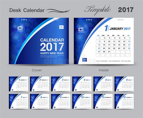 desk calendar template set blue desk calendar 2017 template design cover desk