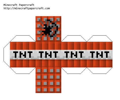 Minecraft Papercraft Printouts - 8 best images of minecraft tnt printables tnt minecraft