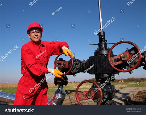 gas worker wearing protective clothing stock photo 133613810