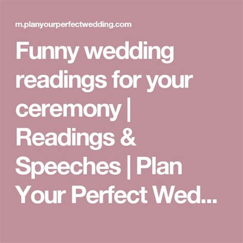 Wedding Blessing Humorous by Wedding Readings For Your Ceremony Places