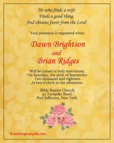 christian wedding invitation wording christian wedding invitation wording sles wordings