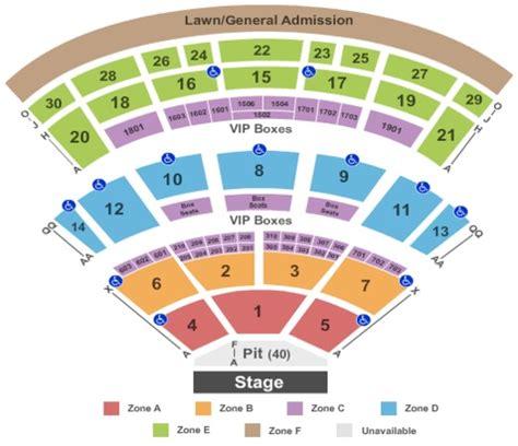 saratoga performing arts center seating chart