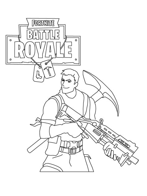Coloring Page Fortnite by Fortnite Coloring Pages Print And Color