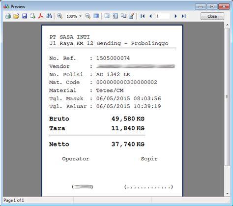 Timbangan Digital Print Out software jembatan timbang 171 elvotec solution