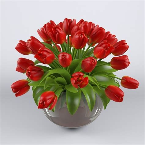 Pictures Of Tulips In Vases by 3dsmax Vase Tulips