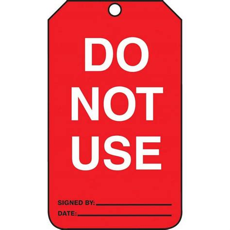 do not use bathroom signs tag do not use 5 7 8 x 3 3 8 rv plastic from cole parmer