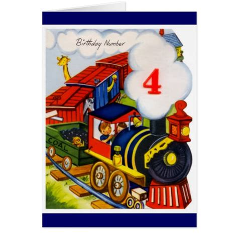 Happy Birthday Wishes For 8 Year Boy Happy Birthday 4 Year Old Boy Greeting Card Zazzle