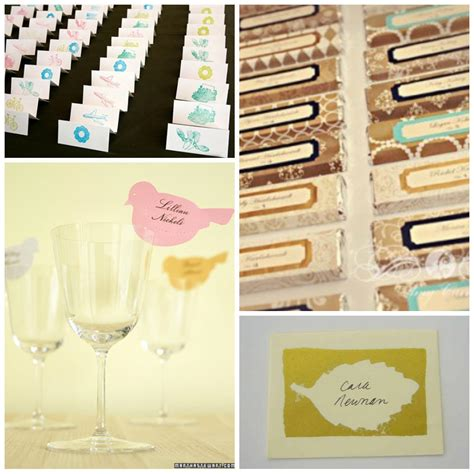 Diy Place Cards | 16 diy wedding place cards