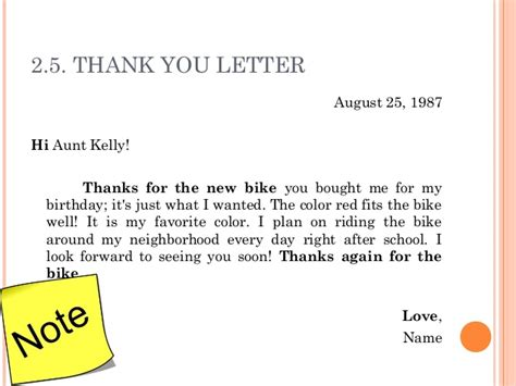 Thank You Letter Template Birthday 3 Letter Writing
