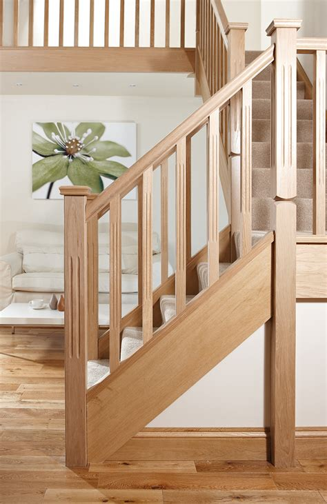 square and fluted reeded stair spindle