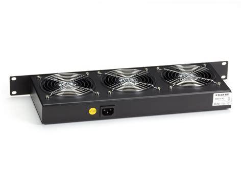 1u rack fan 1u 19 quot horizontal rackmount fan tray 3 fans black box