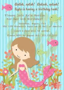 bear river photo greetings mermaid birthday party invitations
