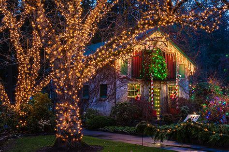 canada christmas lights photo vancouver canada butchart gardens
