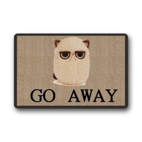 Welcome Mat That Says Go Away by Cat Enter Here 17 Ridiculously Awesome Cat Doormats Petslady