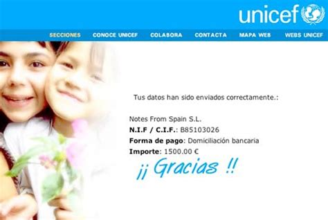 Unicef Fundraising Letter thank you for your help notes in learn