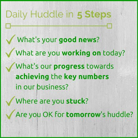 daily huddle template team productivity the daily huddle think productive