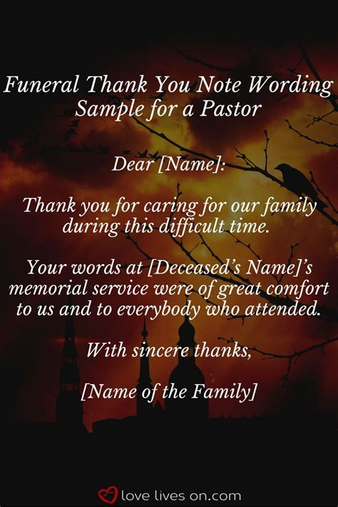 thank you letter to a pastor for funeral services best 20 sle thank you notes ideas on