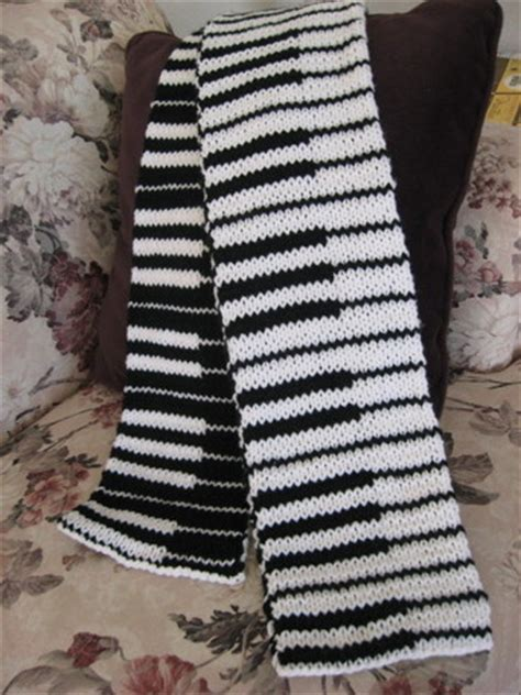 knitting pattern piano scarf double knit piano scarf judy s knitting page