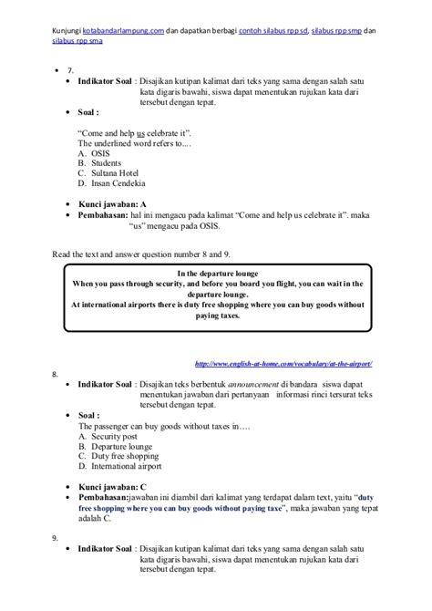 letter bahasa inggris smp contoh soal invitation dengan jawaban contoh yes