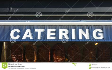 What Does The Word Awning by Catering Stock Photo Image 45623173