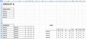 tournament schedule template league standing excel templates spreadsheets create sports