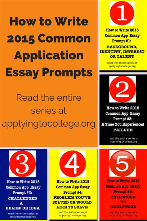 College Application Essay Starters how to write 2015 common application essay prompts 1 5