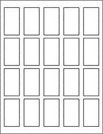 rectangle labels 20 per sheet ol340 1 25 quot x 2 25 quot
