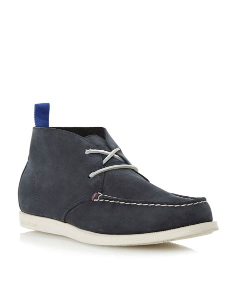 hilfiger chukka boots hilfiger kevin casual chukka boots in blue for
