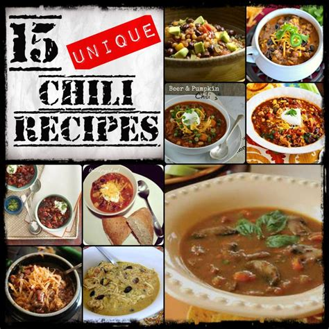 15 unique chili recipes from http designedbybh com