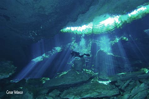cavern diving and cave diving in cenote chac mool