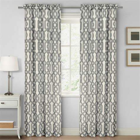 dollar general curtains duck river textiles ashmont printed textured rod pocket