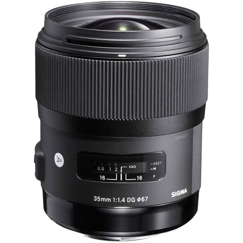 sigma 35mm f 1 4 dg hsm lens for canon ef 340 101 b h