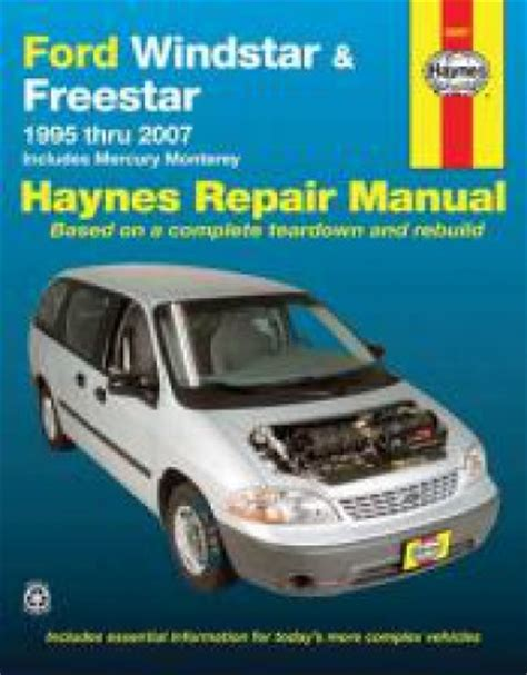 car repair manuals online pdf 1995 ford econoline e350 electronic toll collection haynes ford windstar and freestar mini van 1995 2007 auto repair manual