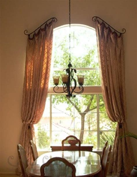curtains for arch window arched window treatments curtains window treatments