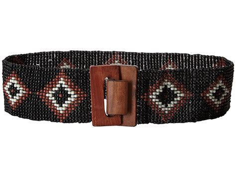 bead belt m f western nocona stretch beaded belt black
