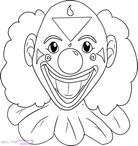 scary fish coloring pages coloring pages of scary clowns clown coloring page scary