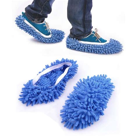mop slippers aliexpress buy 2pcs dust cleaner grazing slippers