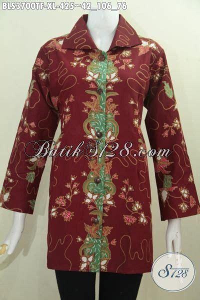 Baju Korpri Wanita Furing Size baju batik warna merah marun buat wanita dewasa model terbaru yang lebih mewah baju batik tulis