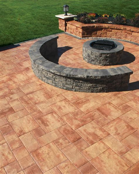 Paving Stones For Walls Nicolock S Serafina Firepit Kit Contemporary Patio