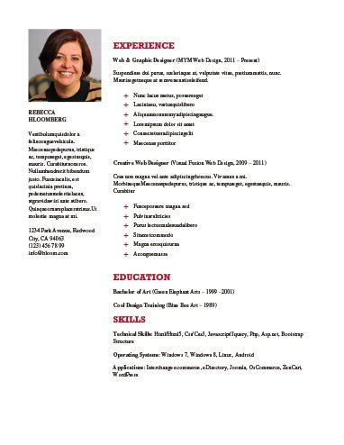 Simple Resume Templates 75 Exles Free Download Hloom Professional Resume Templates