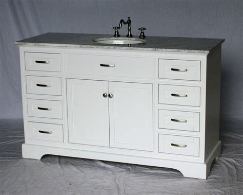 56 sink vanity 56 inch bathroom vanity single sink bathroom design ideas