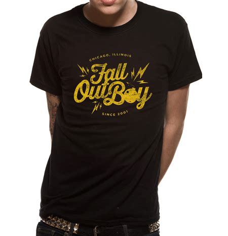 Kaos Fall Out Boy Bomb White Print On Gildan boutique fall out boy t shirt casquettes poster