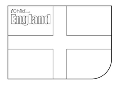 st george s day english flag colouring in picture flag
