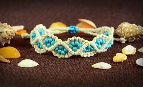 Easy Macrame Bracelet Patterns - inspired beaded macrame bracelet