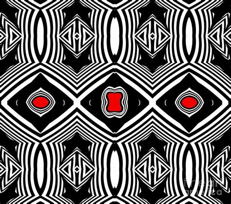 black and white pattern artists pattern black white red op art no 389 digital art by