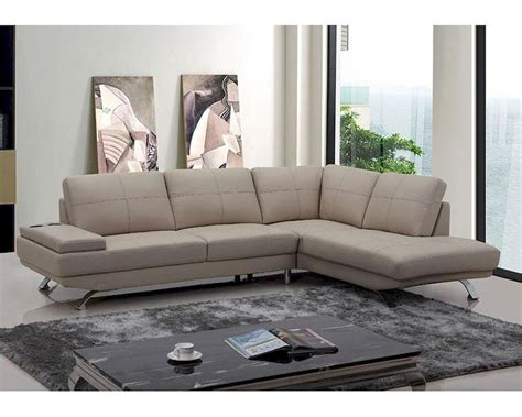beige leather sectional sofa modern beige leather sectional sofa 44l5942