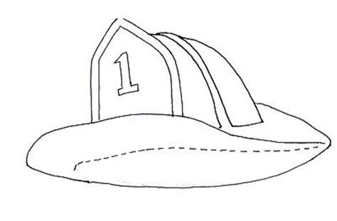coloring page of a firefighter hat kindergarten printable hat templates fireman hat