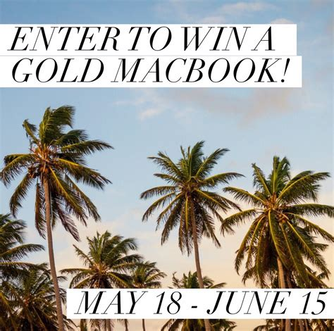 Macbook Giveaway - gold macbook giveaway