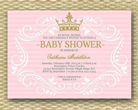 free princess baby shower invitation templates royal princess baby shower invitation princess baby