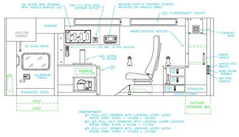 interior design equipment improvements in ambulance interior design braun ambulances